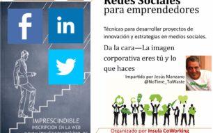 Taller Redes Sociales para emprendedores. Viernes 11 de noviembre 18h